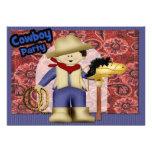 Cowboy Party Invite