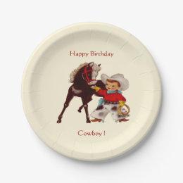Cowboy Party Paper Plate  sc 1 st  Zazzle & Cowboy Plates | Zazzle