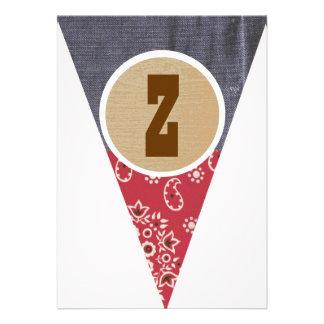Cowboy Pennant Letter Z- Announcement