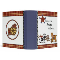 Cowboy Photo Album Binder