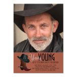 "Cowboy Photo Invitation 5"" X 7"" Invitation Card"