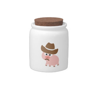 Cowboy Pig Candy Dish