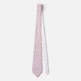 Cowboy Pink Horseshoes Silky Mens' Neck Tie