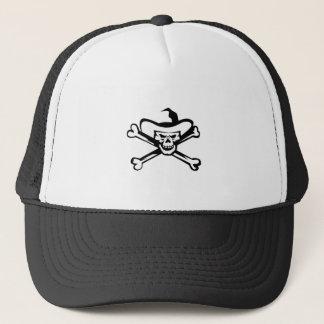 Cowboy Pirate Skull Cross Bones Retro Trucker Hat