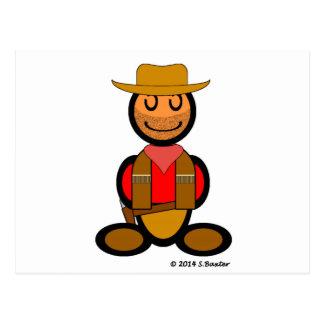 Cowboy (plain) postcard