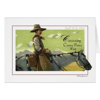 Cowboy Poetry Week Card