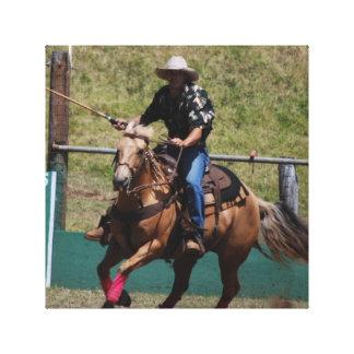 Cowboy Polo Canvas Print