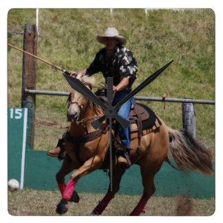 Cowboy Polo Wall Clock