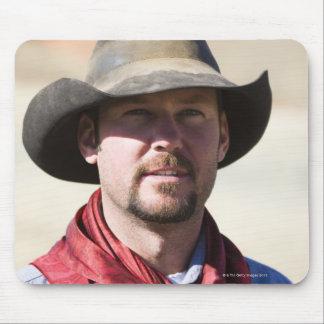 Cowboy portrait mouse pad