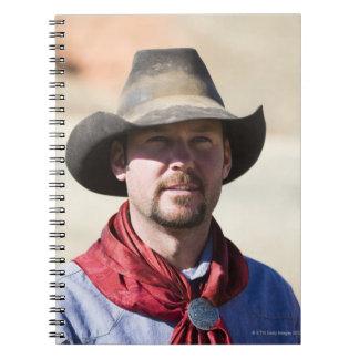 Cowboy portrait spiral notebook