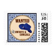 Cowboy Postage Stamp