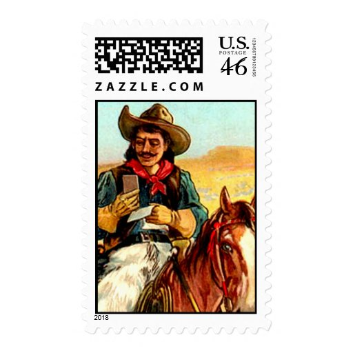 Cowboy Postage Stamps