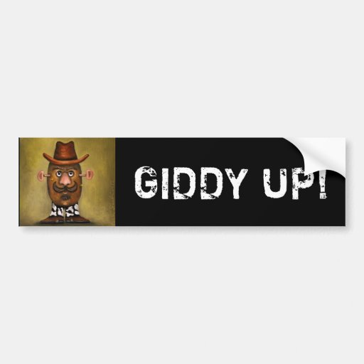 Cowboy Potato Bumper Sticker