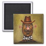 Cowboy Potato Fridge Magnets