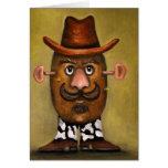 Cowboy Potato Greeting Card