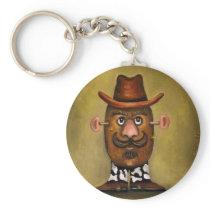 Cowboy Potato Keychain
