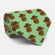 Cowboy Potato Pattern Neck Tie