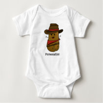 Cowboy Potato Personalized Baby Bodysuit