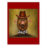 Cowboy Potato Postcard