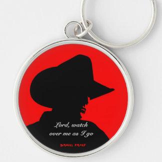 Cowboy Prayer Keychain