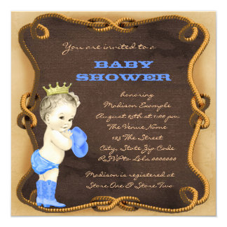 Cowboy Prince Baby Shower Card