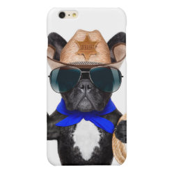 Case Savvy iPhone 6 Plus Glossy Finish Case with Pug Phone Cases design