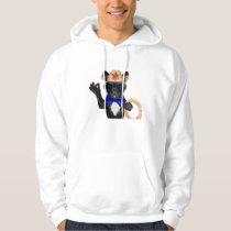 cowboy pug - dog cowboy hoodie