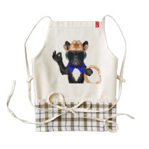 cowboy pug - dog cowboy zazzle HEART apron