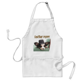 COWBOY PUPPY ADULT APRON