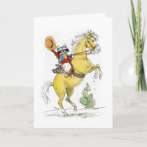 Cowboy Raccoon Happy Birthday! Card