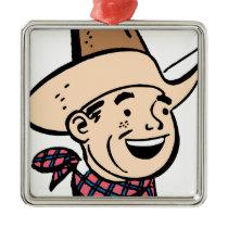 cowboy ranger metal ornament