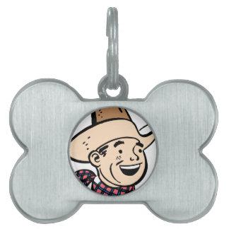 cowboy ranger pet name tag