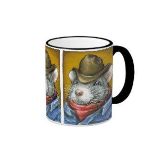 Cowboy rat coffee mug
