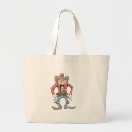 Cowboy ready to Draw Canvas Bags