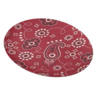 "Cowboy Red Bandana 10"" Plate"
