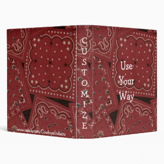 Cowboy Red Bandana Print Notebook Binder