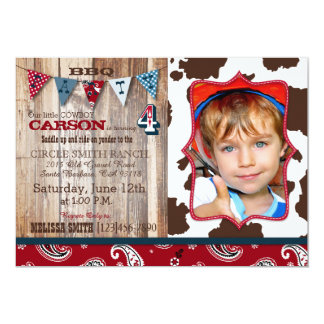 Cowboy Red Bandanna Western Theme Birthday Card