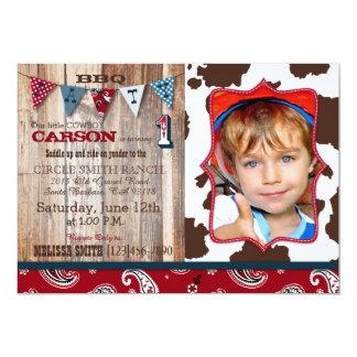 Cowboy Red Bandanna Western Theme Birthday Card