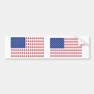 Cowboy-Rider-Flag-Tee Bumper Sticker