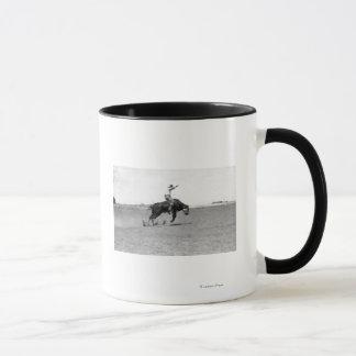 Cowboy Riding a Bucking Bull Mug