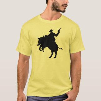 Cowboy riding a buffalo T-Shirt