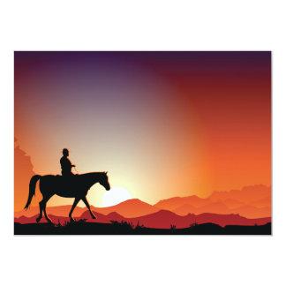 Cowboy Riding A Horse Invitations