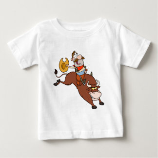 Cowboy-Riding-Bull-In-Rodeo Baby T-Shirt