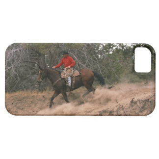 Cowboy riding downhill iPhone 5 cases