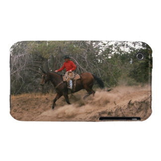 Cowboy riding downhill iPhone 3 cover