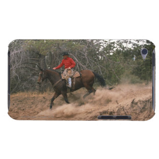 Cowboy riding downhill iPod touch case
