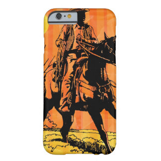 Cowboy riding horseback in desert barely there iPhone 6 case