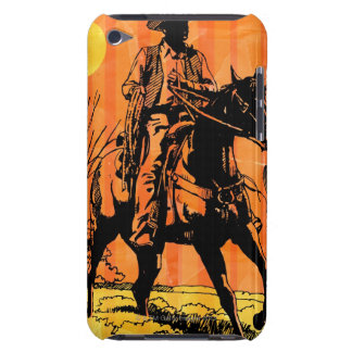 Cowboy riding horseback in desert iPod touch cover