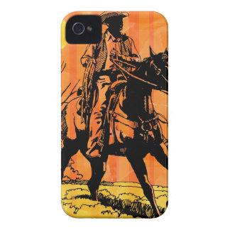 Cowboy riding horseback in desert iPhone 4 cover