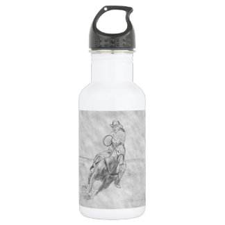 Cowboy Riding Stainless Steel Water Bottle